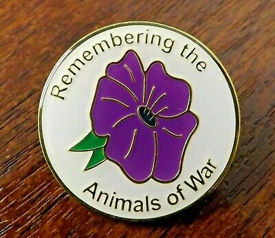 £2.50 • Buy Remembering The Animals Of War Purple Poppy Enamel Badge. 100% To Charity.
