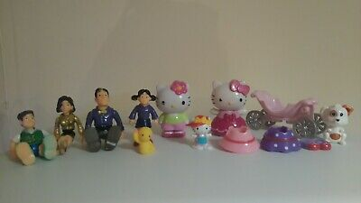 Bundles Of Figures Including Hello Kitty • 3£