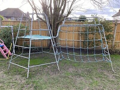 TP Metal Climbing Frame With Monkey Bars And Net • 15£