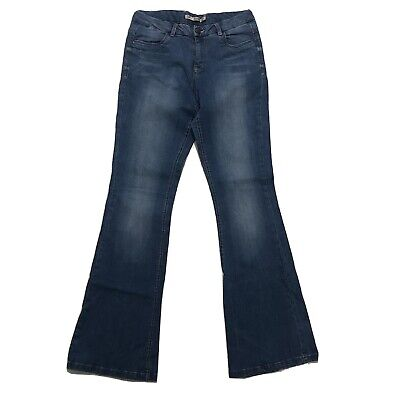 """£15 • Buy Womens Flared Jeans By Dorothy Perkins / Blue / Size 10R / 30"""" W / 31"""" L"""