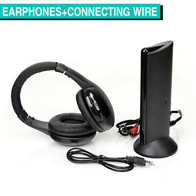 AU19.09 • Buy 5 In 1 Wireless Headphones Over Ear  Cordless Headsets Hi-Fi FM Radio For TV MP3