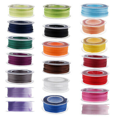 22 Colors Double Sides Satin Ribbons For Bowknot Crafts Flower Package Decor • 3.99£
