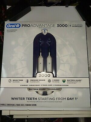 AU99.77 • Buy Oral-B PROAdvantage 3000 Electric Rechargeable Toothbrush (2 Pk.) With 2 Head Br