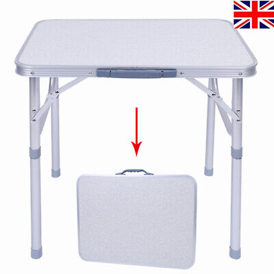 Portable Indoor Outdoor Aluminium Folding Dining Table Bbq Camping Picnic Party • 17.59£