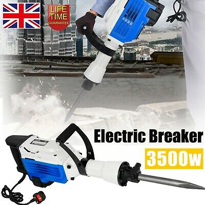3500W Electric Breaker Concrete Demolition Hammer Jack Drill Tool Kit • 116.99£