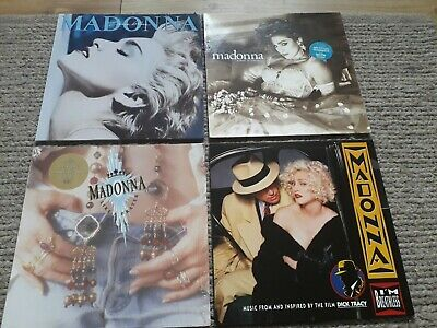 Madonna Vinyl Lps, Like A Virgin, True Blue, I'm Breathless, Like A Prayer • 21.80£