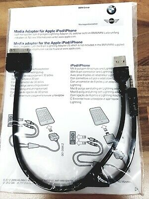BMW/MINI Genuine Music Media Adapter Cable For Apple IPod IPhone  • 20£
