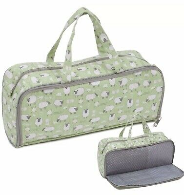 Knitting/Craft Storage Bag With Side Pocket For Needles Sheep Design *second* • 5.10£