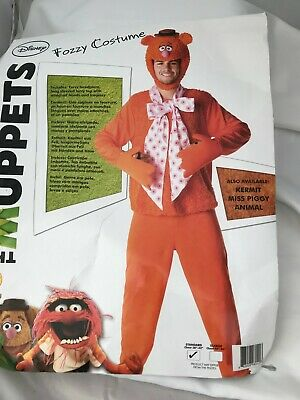 Disney Fozzy Bear Muppets Fancy Dress Costume Outfit Size 38 - 40  Inch Chest • 9.99£