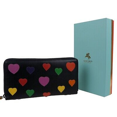 AU112.54 • Buy Ladies Soft Leather RFID Long Purse/Wallet Love Collection By Visconti Gift Boxe