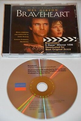 James Horner Braveheart CD Soundtrack Album • 0.99£