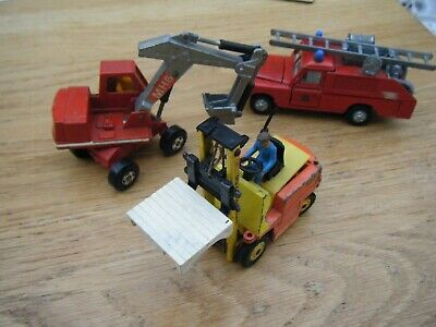 Collection Of Dinky And Matchbox Land Rover 109WB, Conveyancer, Excavator • 3£