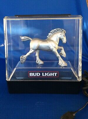 $ CDN58.22 • Buy Anheuser Busch The Budweiser Light Clydesdale Lighted 3D Sign