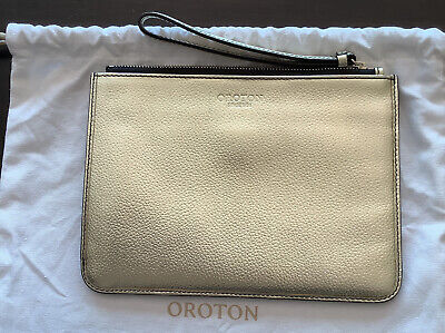 AU55 • Buy OROTON - GOLD  - Clutch - Pouch - NEW - Purse - Bag - Wristlet - With Dust Bag