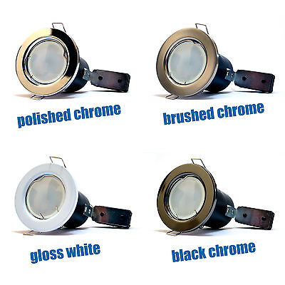 £44.95 • Buy 10 X LED Fire Rated Downlights Downlighters GU10 Spotlights Kitchen Panel LED UK