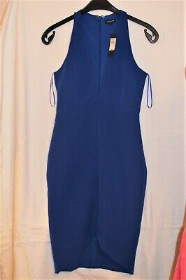 Ladies 'new' Blue Straight Dress By River Island Size 6 • 3£