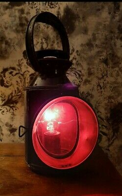 Vintage Train Signal Lamp - Red, Green And Clear - Been Converted To Electric • 35£