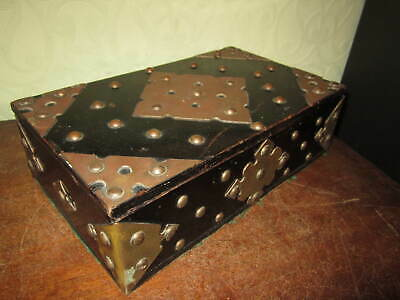 £60 • Buy A Gothic Arts And Crafts Style Box With Ornate Heavy Brass Fittings