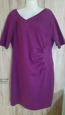 Kaliko Bright Purple Super Stretch Straight Pencil Bodycon Dress Size 20 RRP £99 • 12.50£