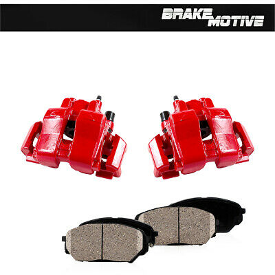 $231.11 • Buy Front Red Powder Coated Brake Calipers & Ceramic Pads For 2008 Escape Mariner