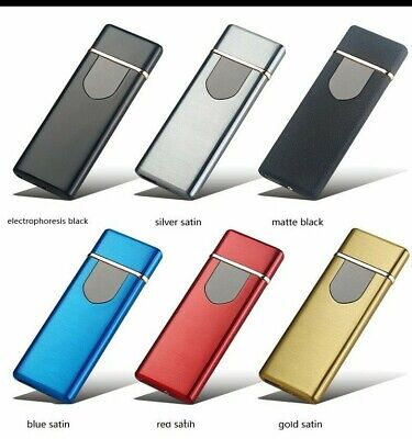 USB Electric Rechargeable Cigarette Lighter Touch Sensor Windproof Flameless • 5.79£