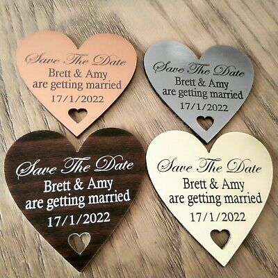 AU49.99 • Buy X10 Save The Date Fridge Magnets Wedding Invitations Party Invitations