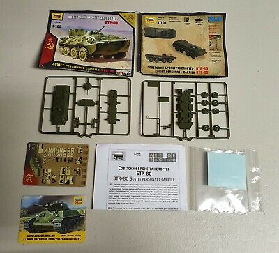 AU13 • Buy *UNBOXED* Zvezda No. 7401 | 1:100 BTR-80 Soviet Infantry Combat Vehicle