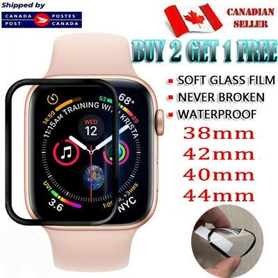 $ CDN5.49 • Buy For Apple Watch Series 1 2 3 4 5 6 SE - Premium Curved 3D Edge Screen Protector
