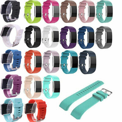 $ CDN4.15 • Buy For Fitbit Charge 2 Replacement Sports Band Strap Silicone Wrist Watch Band #t