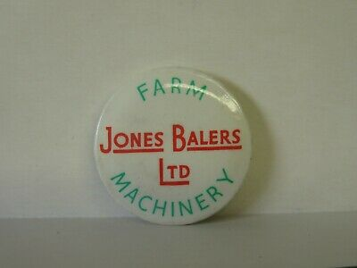 Round Jones Bailers Ltd Farm Machinery Vintage Lapel Badge • 12.99£