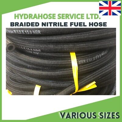 Nitrile Rubber Braided Fuel Hose/pipe For Engines,oil, Diesel & Unleaded Fuel Uk • 5.17£