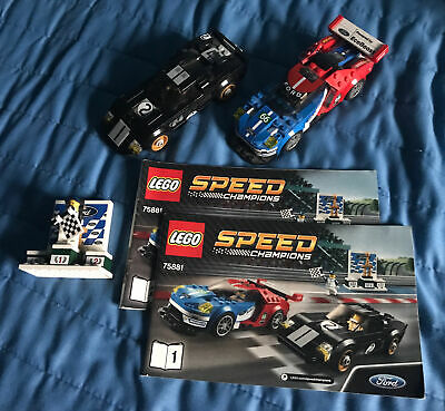 Lego Speed Champions 2016 Ford GT & 1966 Ford GT40 (75881) Car Bundle & Extras • 21.15£