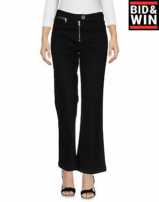 $ CDN1.72 • Buy PAIGE Denim Trousers Size 25 Stretch Garment Dye Turn Up Cuffs Flare Made In USA