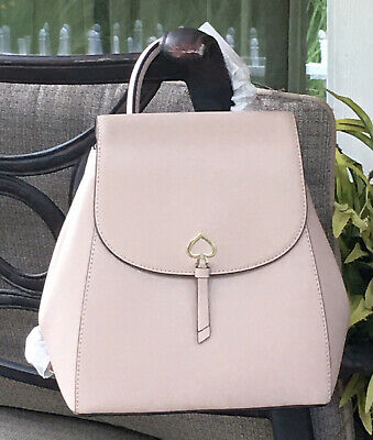 $ CDN164.53 • Buy Kate Spade Adel Medium Flap Backpack Tote Bag Warm Beige Leather $299