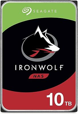 "View Details Seagate IronWolf 10TB,Internal,7200 RPM, 3.5"" (ST10000VN0008) Hard Drive • 210.00£"