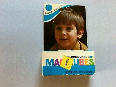 $5.99 • Buy Sylvania Blue Dot MAGICUBES Camera Flash Cubes 3-Pk For 110 POCKET NEW OLD STOCK
