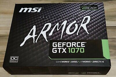$ CDN430.73 • Buy MSI NVIDIA GeForce GTX 1070 ARMOR 8G OC - Great Condition - In Hand