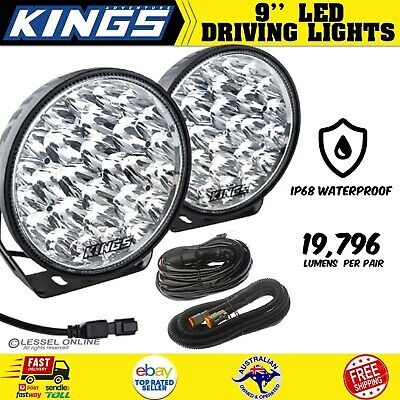AU190.25 • Buy Kings Xtreme 9  LED Driving Lights Offroad Spot Flood Pair Lamp Lux Lumens New