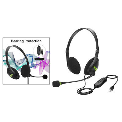 £9.16 • Buy USB/Bluetooth Computer Headset Headphones Mic For PC Laptop Call Center