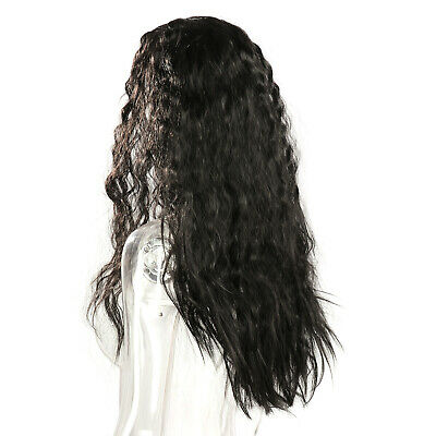 £16.69 • Buy Heat Resistant Wigs Women Long Black Loose Curly Wave Synthetic Lace Front