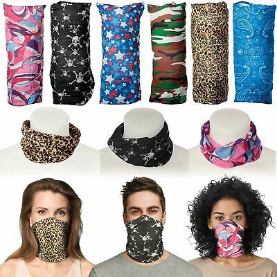 Snood Face Mask Neck Scarf Covering Bandana Tube Colourful Sport Cover UK • 2.95£