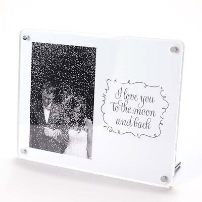 I Love You To The Moon & Back Freestanding Photo Frame - 6 X 4  - Acrylic • 13.99£