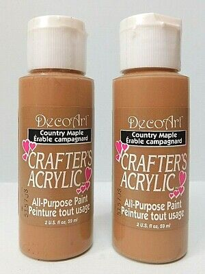 Deco Art Crafters Acrylic - Set Of 2 - COUNTRY MAPLE  - Each 2 FL Oz 59 ML • 8.99£