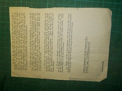 Rare 1944 World War 2 Money In Germany Info Sheet Second Tactical Air Force • 6.99£