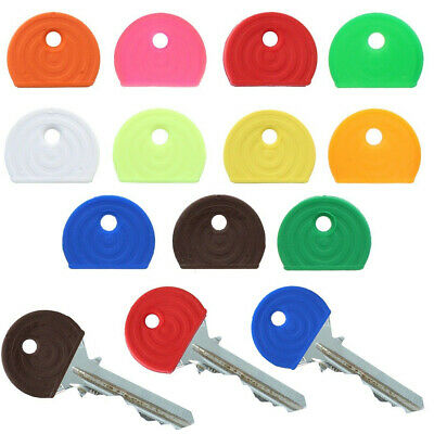 £1.70 • Buy COLOURED KEY CAPS Keyring Top Toppers ID Marker Door Safe Lock Colour Coded