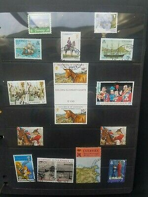 GB-GUERNSEY CHANNEL ISLANDS  - 30 + Stamps With Some Alderney (2 Photos) • 0.50£