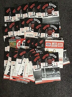 47 X Manchester United Programmes Mainly 1964/5  • 12£