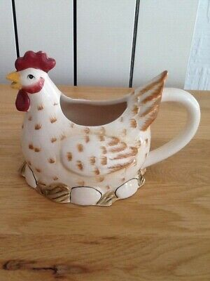 Chicken Cream Jug Pours From Mouth Rooster Creamer New. • 10£