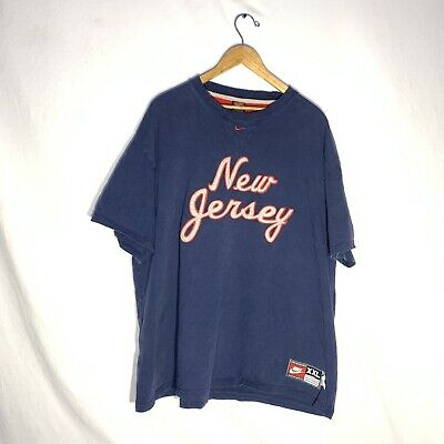 $ CDN44.19 • Buy Rare Vintage NIKE New Jersey Nets '77 Rewind Throwback Embroidered T-shirt 2XL