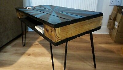 Funky Coffee Table/side Table Made To Order. Hairpin Legs. Upcycled Pallet Wood  • 73£